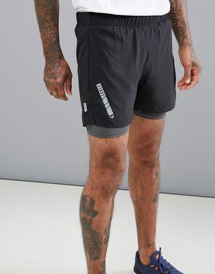 Pantalones cortos de entrenamiento 2 en 1 de FIRST
