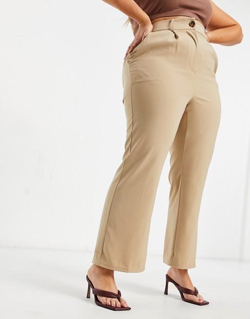 Pantalones De Campana De Corte Sartorial De Talle Alto De Fashion Union Plus Asos