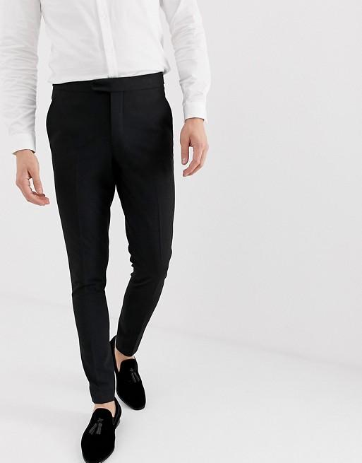 Pantalones De Esmoquin Muy Ajustados En Negro Design - Gran Venta