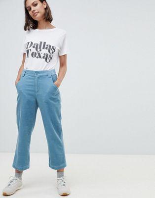 Pantalones de pernera recta de pana de ASOS DESIGN