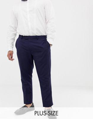 Pantalones de traje de boda ajustados en lino de Farah