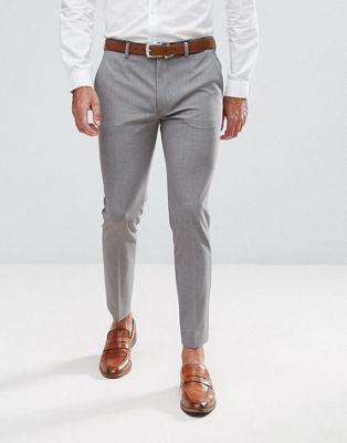 Pantalones de vestir capri muy ajustados en gris medio de ASOS DESIGN