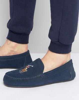 Pantuflas estilo mocasín de piel de oveja Markel de Ralph Lauren