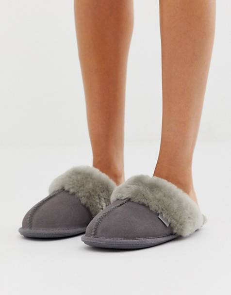 Pantuflas tipo mule de Just Sheepskin