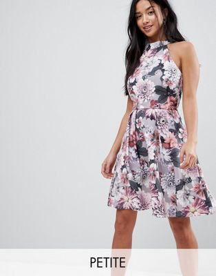 Image 1 of Paper Dolls Petite Floral Printed Skater Dress