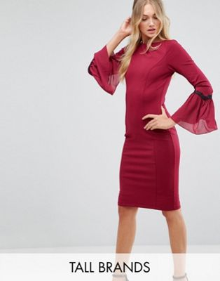 Paper Dolls Tall Long Sleeve Midi Dress