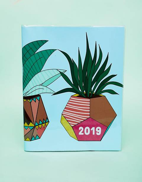 Paperchase – 8X10 Blue Cactus – 2019 Tagebuch