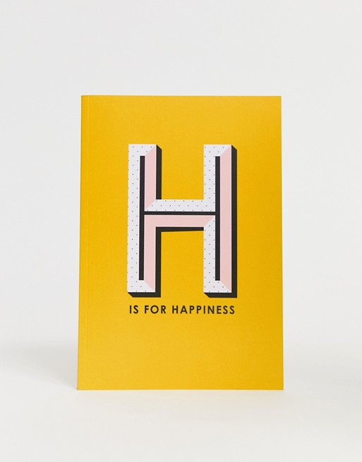 Image 1 of Paperchase H is for happiness notebook