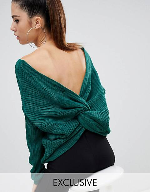 Parallel Lines twist back slouchy sweater