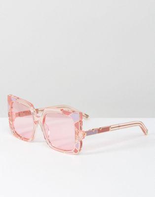 Pared - Lunettes de soleil yeux de chat oversize - Rose