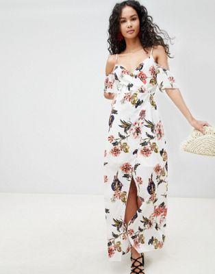 Bild 1 av Parisian – Baraxlad blommig maxiklänning