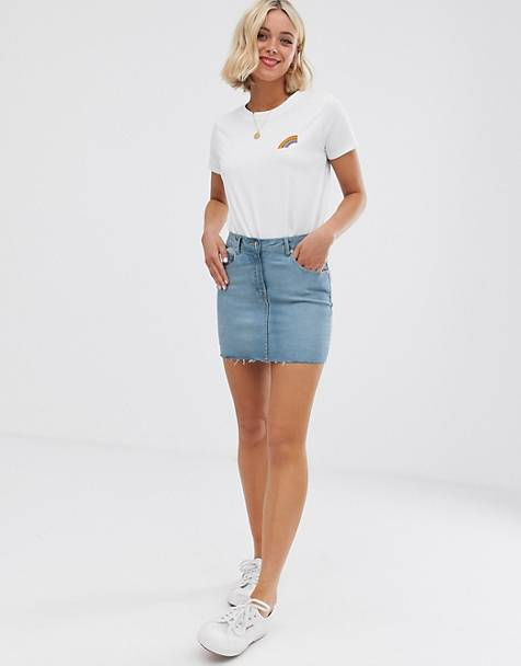 Parisian denim mini skirt