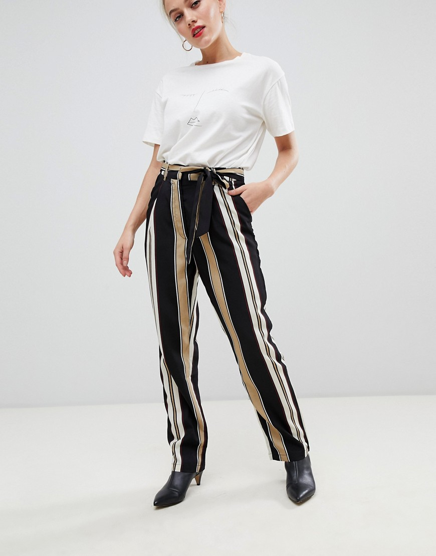 Parisian Stripe Wide Leg Pants by Parisian