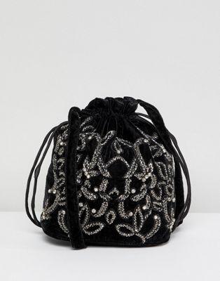 Park Lane Embroidered Shoulder Bag