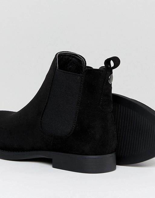 b2635503048a3 Park Lane Wide Fit Flat Chelsea Boots   ASOS