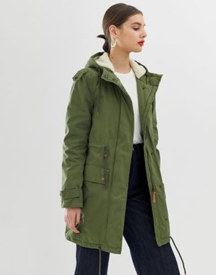 Parka London Abigaile Borg Lined Parka Coat