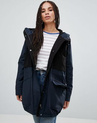 Parka London Catelyn Contrast Parka Coat