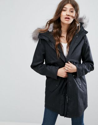 Parka London Lara Detachable Fluffy Lining Parka