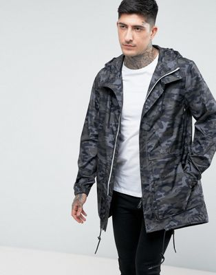 Parka London Lightweight Camo Print Parka