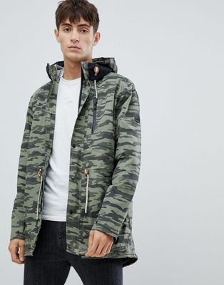 Parka London Taped Seam Camo Print Parka