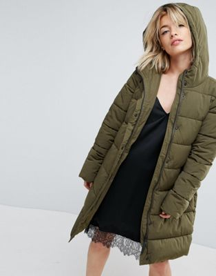 Parka London Thelma Faux Fur Hooded Quilted Coat