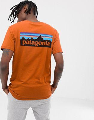 Patagonia – P-6 – Bio-T-Shirt in Orange mit Logo