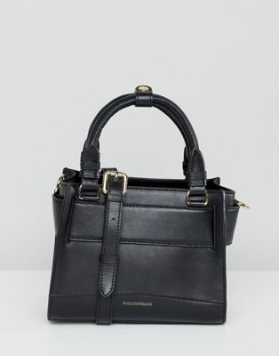 Paul Costelloe real leather hand held mini bag with detachable cross body strap