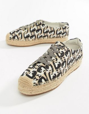 Paul & Joe Sister Cat Print Espadrilles