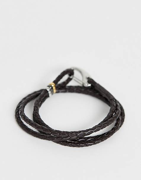 Paul Smith wrap bracelet in brown