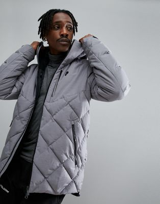 Peak Performance Alaska Melange Jacket In Grey