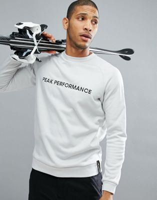 Peak Performance Goldeck Crew Neck Logo Sweat In Off White