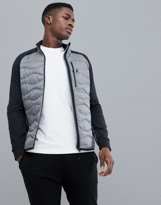 Peak Performance Helium Hybrid Jacket Melange In Grey