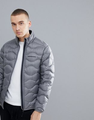 Peak Performance Helium Puffer Jacket Melange In Grey