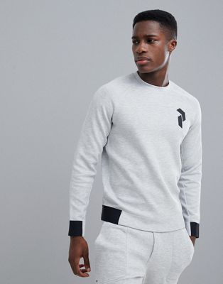 Peak Performance Tech Crew Neck Sweat In Grey Suit 1