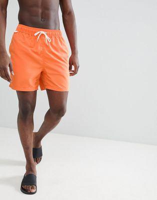 Penfield - Seal - Pantaloncini da bagno arancioni con logo piccolo