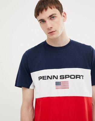 Penn Sport - Rood T-shirt met kleurvlakken
