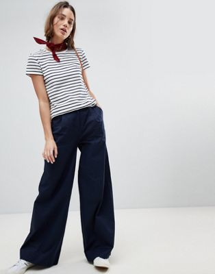 People Tree Cotton Wide Leg Trousers