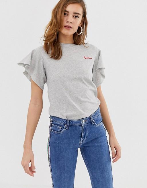 Bild 1 av Pepe Jeans – Antonia – T-shirt med utställd ärm