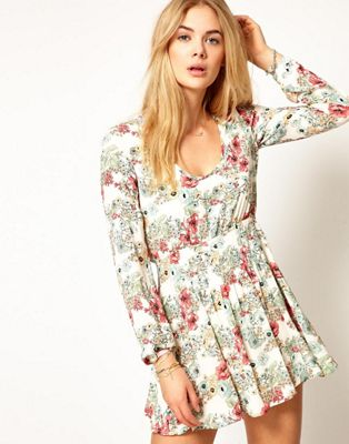 Image 1 of Pepe Jeans Floral Mini Dress