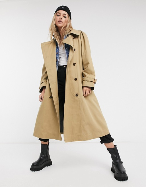 Pepe Jeans – Freeda – Oversized-Trenchcoat in Camel