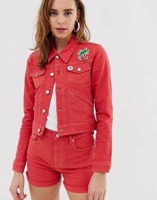 Pepe Jeans Frida red denim jacket