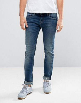Pepe Jeans Hatch Slim Fit Jean in Mid Wash
