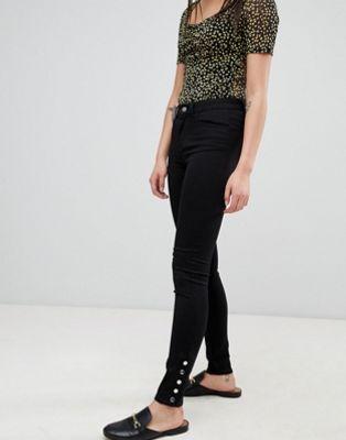 Image 1 sur Pieces - Five Betty - Jean skinny taille mi-haute clouté aux chevilles