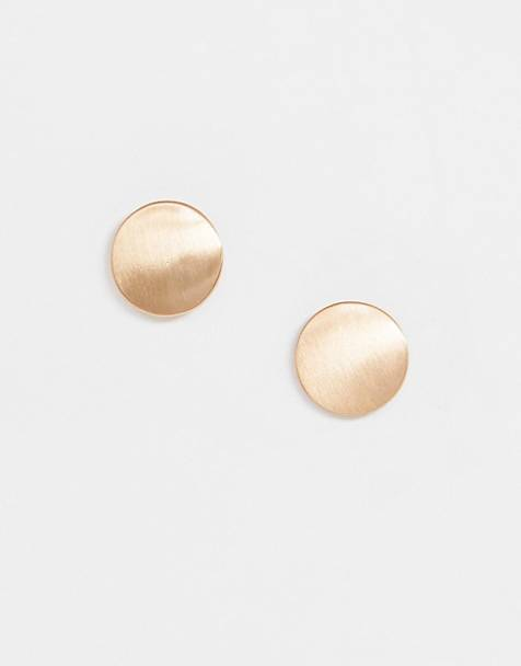 Pieces flat stud earrings