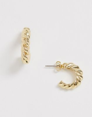 Pieces mini rope hoops in gold