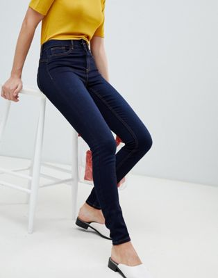 Image 1 of Pieces shape up mid rise jegging jean in blue