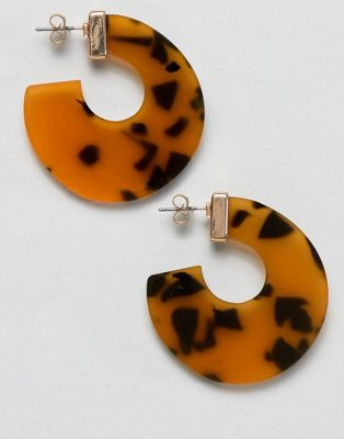 Image 1 of Pieces Tortoise Hoop Earrings