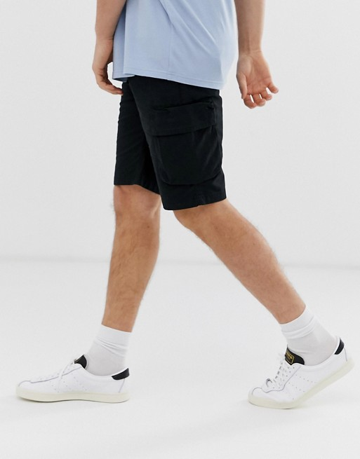 Pier One – Cargo Shorts In Schwarz by Asos