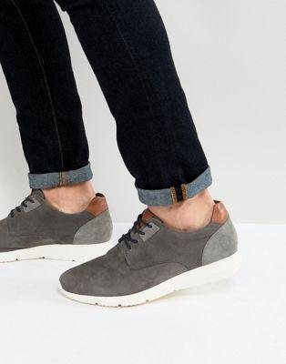 Pier One – Lässige Schnürschuhe aus grauem Wildleder