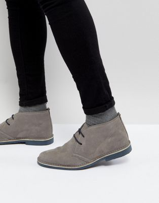 Pier One suede desert boots in grey